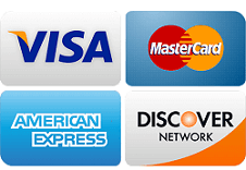 credit cards we accept!